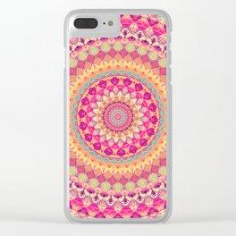 Mandala 592 Clear iPhone Case