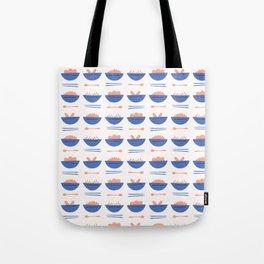 Asian Food Soup Bowl Vector Pattern Tote Bag