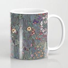 Country Garden with Sunflowers by Gustav Klimt 1905 - 1906 // Nature Scene Detailed Brush Strokes Coffee Mug