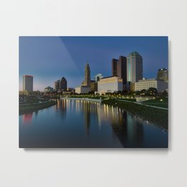 Columbus Skyline Metal Print
