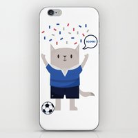 sports iPhone & iPod Skins featuring Sports Cat by The Cat