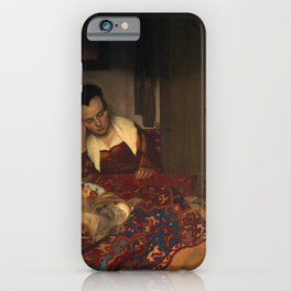 "Johannes Vermeer ""A Woman Asleep at Table"" iPhone Case"