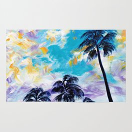 Oceanside Palm Trees Rug