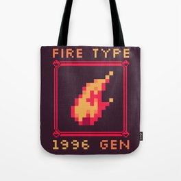 Fire Type Tote Bag