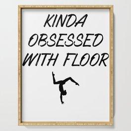 Gymnastics Kinda Obsessed with Floor Gymnast Serving Tray
