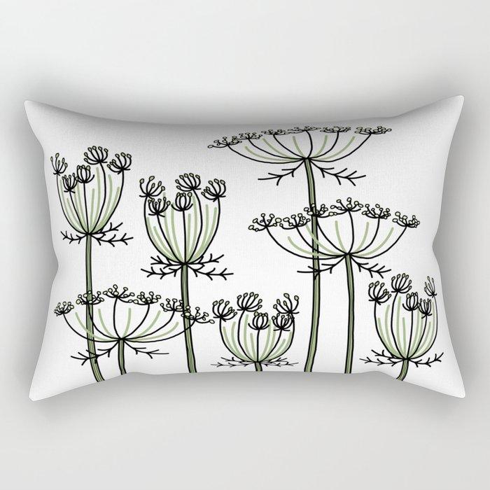 wild carrots Rectangular Pillow