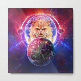 King Cat Galaxy Metal Print