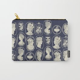 Blue Cameos Carry-All Pouch