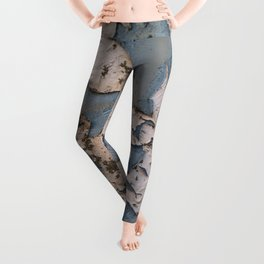 Rusty Turquoise Urban Vintage Paint Leggings