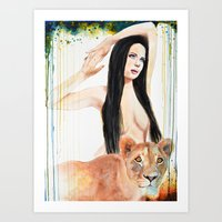 girl power Art Prints featuring Girl Power by Beth Michele
