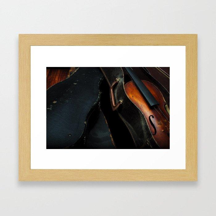 Old Violin Framed Art Print