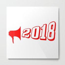 Red 2018 Megaphone Metal Print