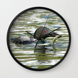 Proud Fisherman Wall Clock