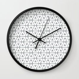 Triangles | Ultimate Gray Wall Clock