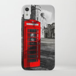 Red Telephone Box at Windsor Castle iPhone Case