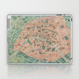 Vintage Paris Map France Laptop & iPad Skin