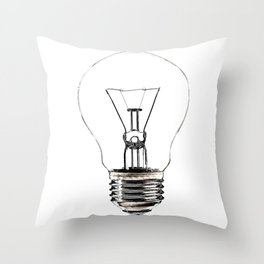 I Have an Idea!  Let there be light... Throw Pillow