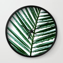 Palm Leaves 15 Wall Clock