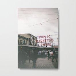 Downtown Seattle's Public Market Center Metal Print
