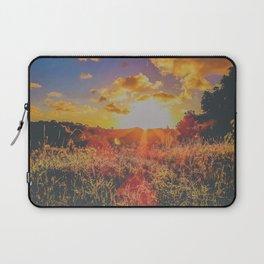 Colorful sunbeams at dusk Laptop Sleeve
