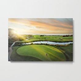 Golfing the Gong AE Metal Print