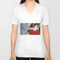 stiles V-neck T-shirts featuring stiles by kala