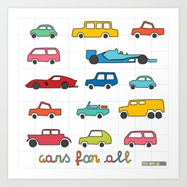Cars for all Art Print