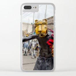 Aztec warrior Clear iPhone Case