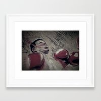 boxing Framed Art Prints featuring boxing by aaron ebanks