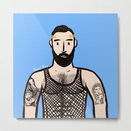 Beard Boy: Apostolos Metal Print