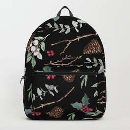 Xmas Pattern - Black Backpack