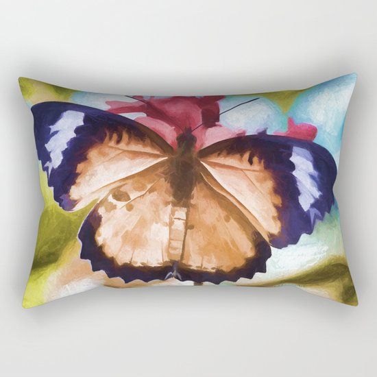 Flying Flower Rectangular Pillow