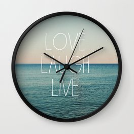 Love Laugh Live #2 Wall Clock