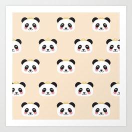 Panda group Art Print