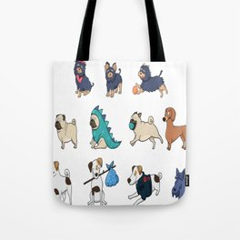 Puppy family Tote Bag
