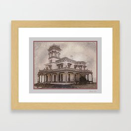 Bidwell Mansion Framed Art Print