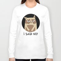 grumpy Long Sleeve T-shirts featuring Grumpy by Adrian Serghie