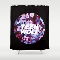 teen titans Shower Curtains featuring Teen Wolf by harrystyless