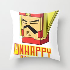 unhappy hero Throw Pillow