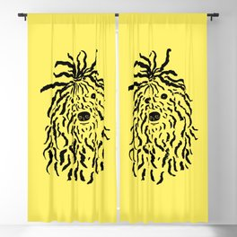 Puli (Yellow and Black) Blackout Curtain