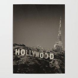 Vintage Hollywood sign Poster
