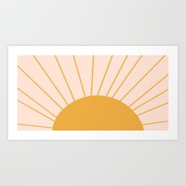oh hi there sun ii Art Print