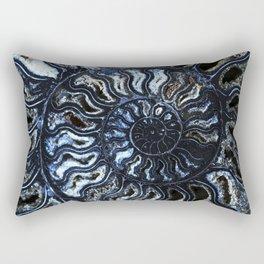 Blue Ammonite Rectangular Pillow