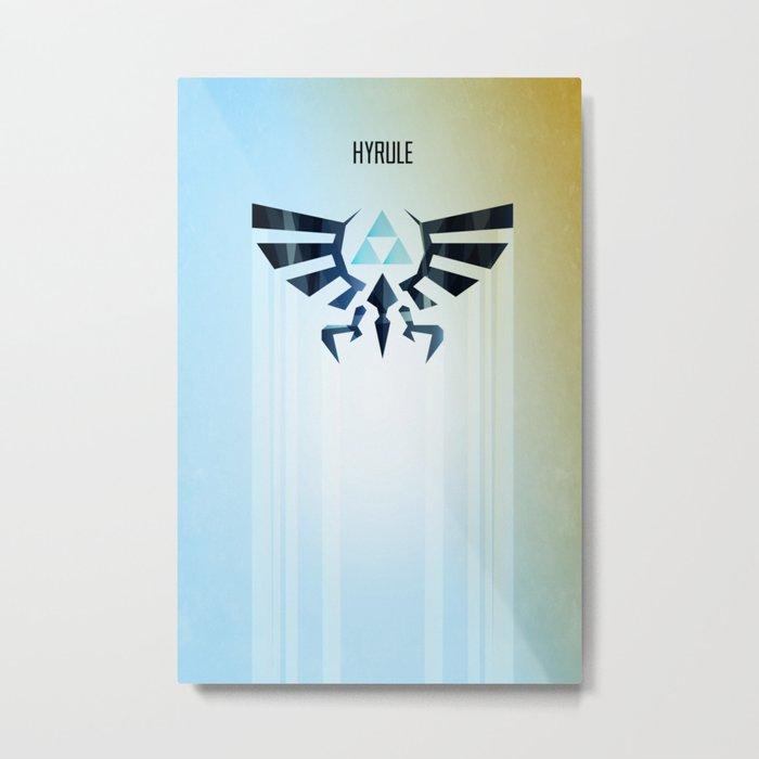 The Legend of Zelda - Hyrule Rising Poster Metal Print