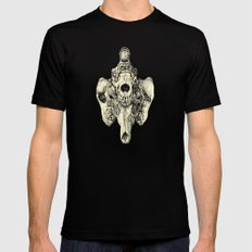 Coyote Skulls - Black and White Mens Fitted Tee Black MEDIUM