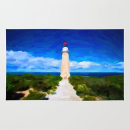 The Lighthouse - Painting Style Rug