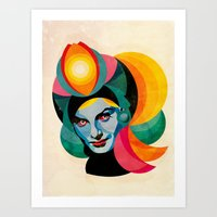 goddess Art Prints featuring Goddess by Alvaro Tapia Hidalgo