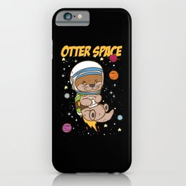 Otter Space   Outer Space iPhone Case