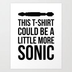 Sonic Tshirt Art Print