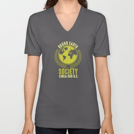 Round Earth Society - Flat Earth Theory Unisex V-Neck